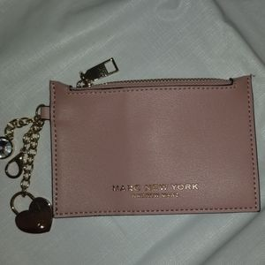 Andrew Marc Rose Pink Coin Purse W/hanging charms